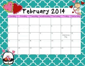 February 2014 Calendar Freebie!!