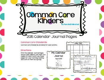 April 2015 Calendar Journal