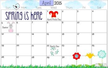 April 2015 Calendars