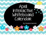 April 2019 Interactive Whiteboard Calendar