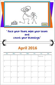 April 2016 ( A 1-Month Inspirational Calendar for Teachers)