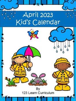 April 2018 Kids Calendar