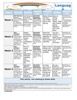 April 2016 Language Calendar