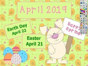 April 2017 Activboard Calendar