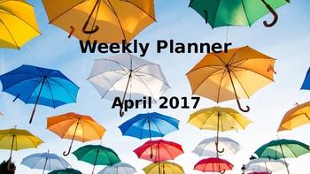 April 2017 Weekly Planner