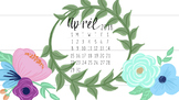 April 2018 Floral Calandar Computer Wallpaper FREEBIE