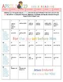 April 2019 Bible Reading Calendar