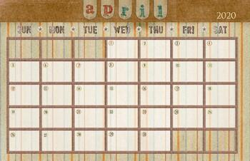 April 2019 Calendar - 11x17
