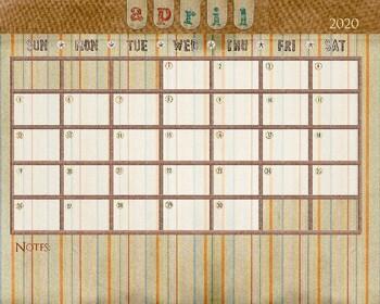 April 2019 Calendar - 8x12
