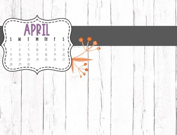 April 2019 Desktop Calendar {FREEBIE}