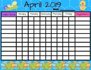 April 2019: Preschool and Daycare Sign-In Form
