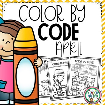 Color By Code - April