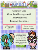 April 3rd - Close Read Comprehension Passages with Complex Questions