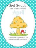 April 3rd Grade Common Core Math Journal Prompts