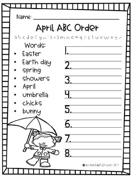 April ABC Order