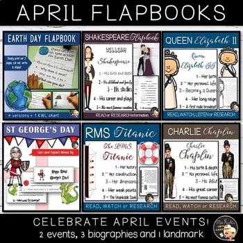 April Activities - Cultural Flapbooks Bundle