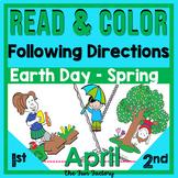 Read and Follow Directions ~ April~ NO PREP, JUST PRINT! ~Grades 1 & 2