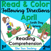 Read and Color to Follow Directions   April 1st and 2nd Grades
