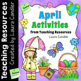 April Activities and Printables for Easter, Earth Day, Poetry Month, and Spring