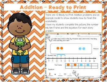 April Add & Subtract Story Problems Print & Go/Personalize {Common Core Aligned}