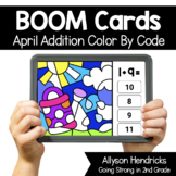 April Addition within 10 Color By Code Color Progression B