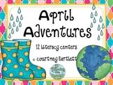 April Adventures literacy centers