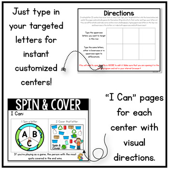 April Alphabet Centers: Editable Letter ID Centers