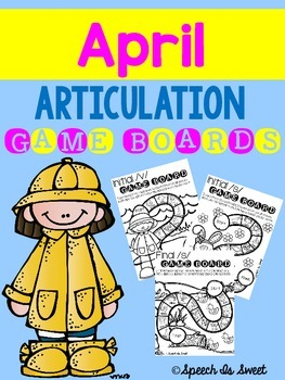 April Articulation Game Boards {Print and Go!}