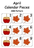 April / Autumn / Fall Calendar Pieces for Numeracy Wall an