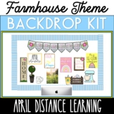 April Backdrop Kit Distance Learning Backdrop or Spring Bu