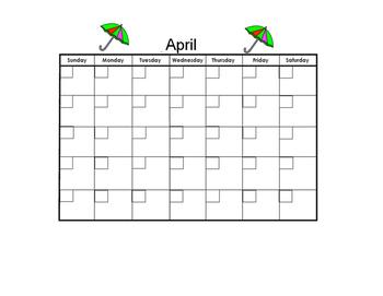 April Blank Calendar