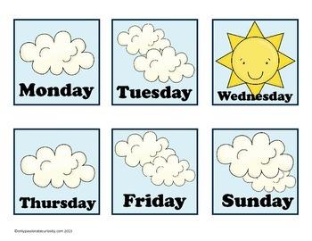 April Blue Birds Pocket Chart Calendar
