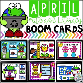 April Boom Cards Math and Literacy
