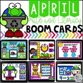 April Boom Cards Math and Literacy Distance Learning