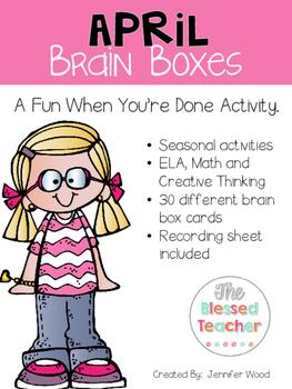 April Brain Boxes
