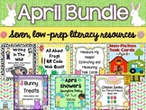 Literacy Centers: Spring | April Task Cards Activities