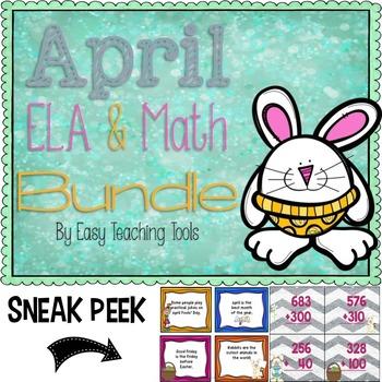 April Bundle: ELA, Math, and Writing