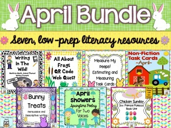April Centers Spring Literacy Activities
