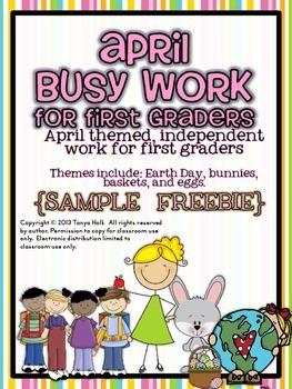 April Busy Work {FREEBIE}