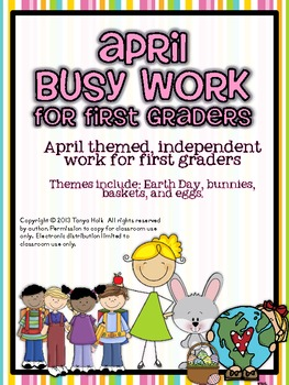 April Busy Work Pack for First Graders