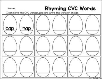 April CVC Word Puzzles