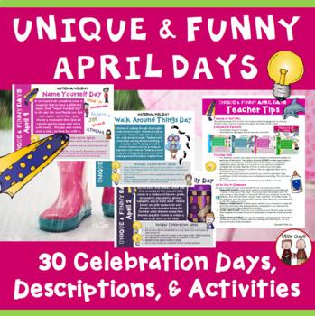 April Calendar Activities