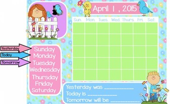 April Calendar, Attendance, and Question of the Day Flipchart for ActivInspire