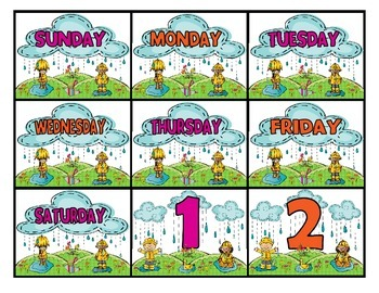 April Calendar Cards - FREEBIE
