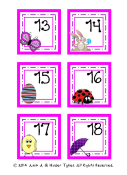 April Calendar Cards by Kinder Tykes