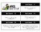 April Calendar Center Task Cards
