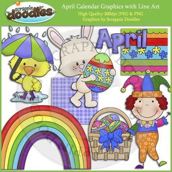 April Calendar Graphics
