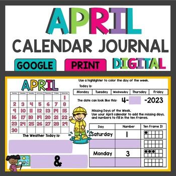April Calendar Math Meeting Activities