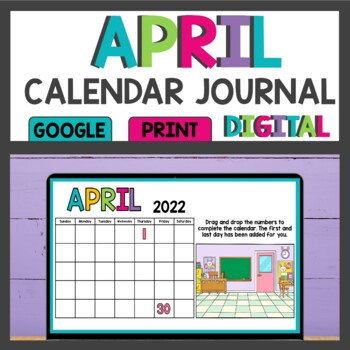 April Calendar Math Meeting Activities