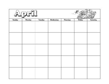 April Calendar Journal Pages